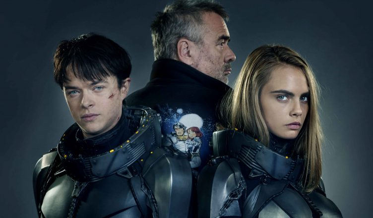 M-1VDF-2727145-1  (Left to right.)   Star Dane DeHaan, director Luc Besson and star Cara Delevingne team up for EuropaCorp's  Valerian and the City of a Thousand Planets. Photo credit: Daniel Smith © 2016 VALERIAN SAS – TF1 FILMS PRODUCTION