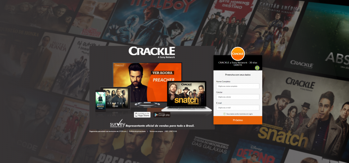 Crackle: Plataforma de Filmes e Séries!
